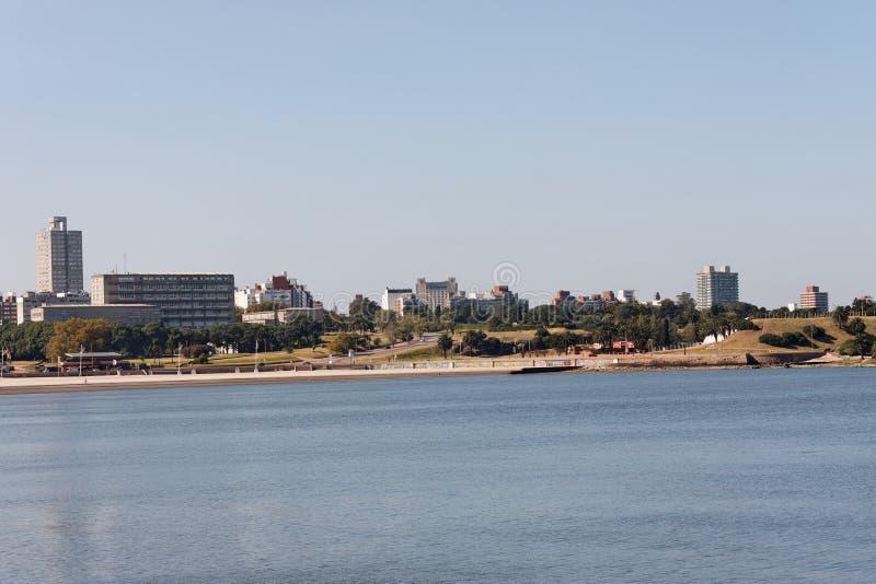 Rambla in Montevideo stock afbeelding