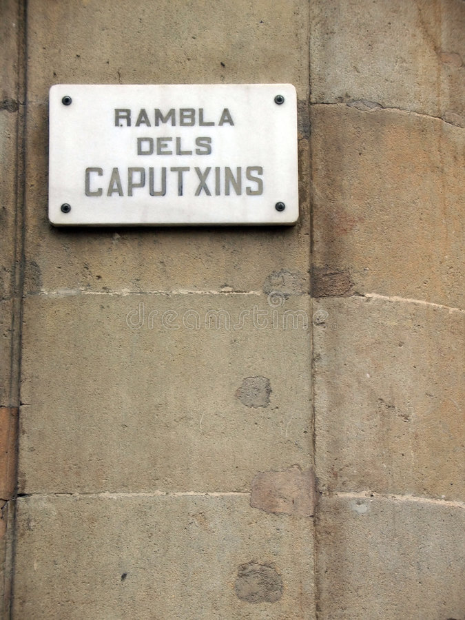 Rambla sign royalty free stock images