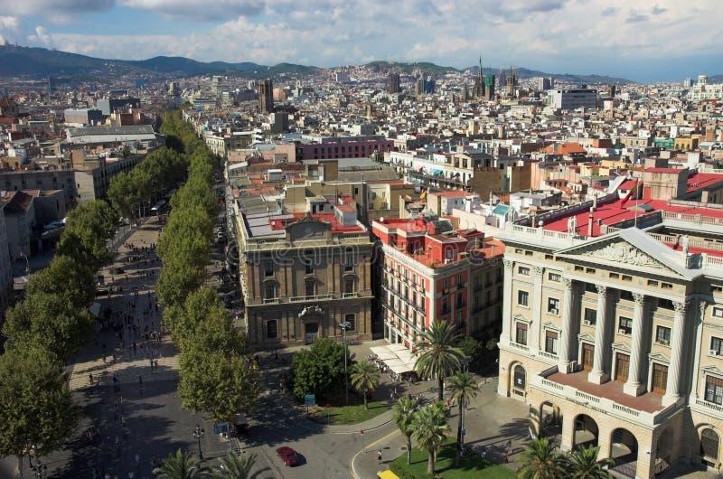 ramblas της Βαρκελώνης στοκ εικόνα
