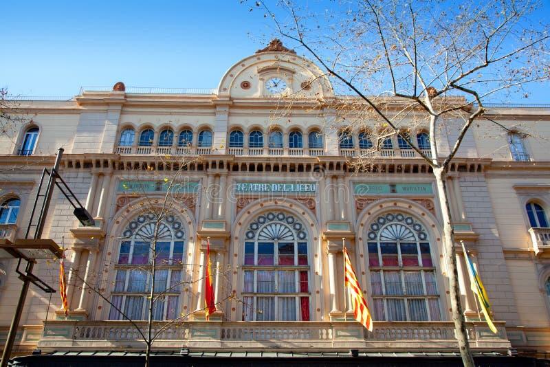 Ramblas di Barcellona Gran Teatro del Liceo Liceu fotografie stock