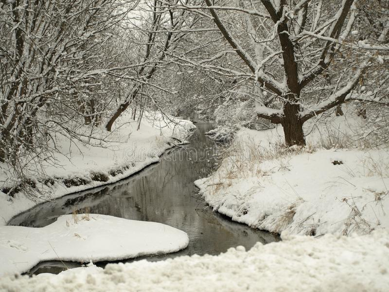 A Rambling Creek in Sussex, WI stock photography