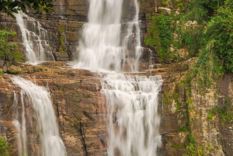 Ramboda falls in Nuwara Eliya, Sri Lanka stock photos