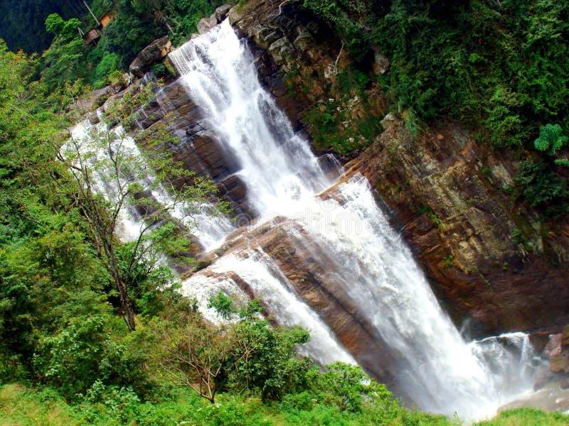 Ramboda Waterfalls stock photo
