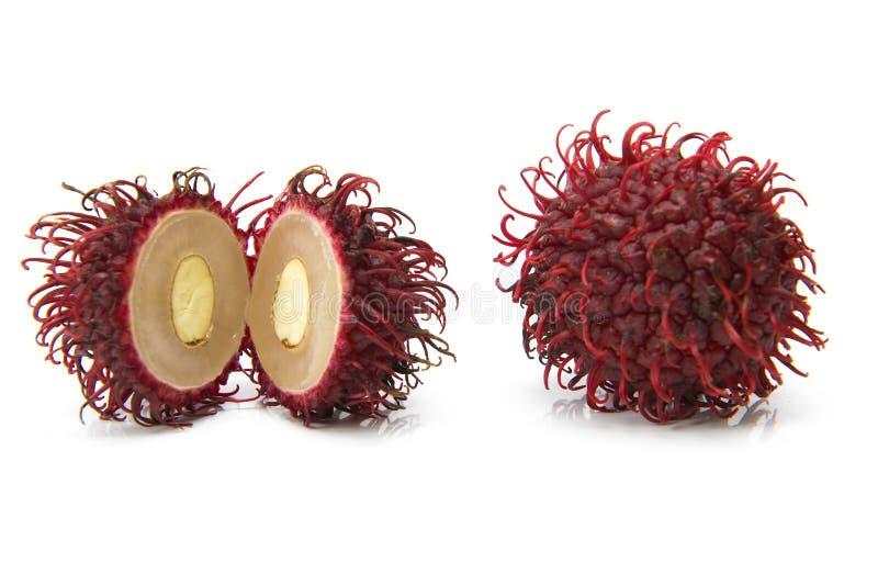 Rambutan. Exotic rambutan fruit on white background royalty free stock photography