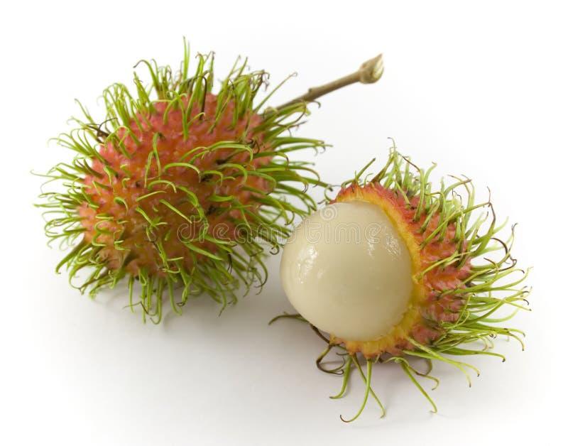 Rambutan. Tropical fruit - Rambutan (Nephelium lappaceum stock photo