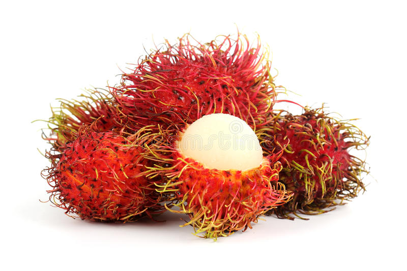 Rambutan do fruto tropical fotografia de stock