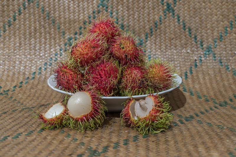 Rambutan folk scene in Thailand royalty free stock photography