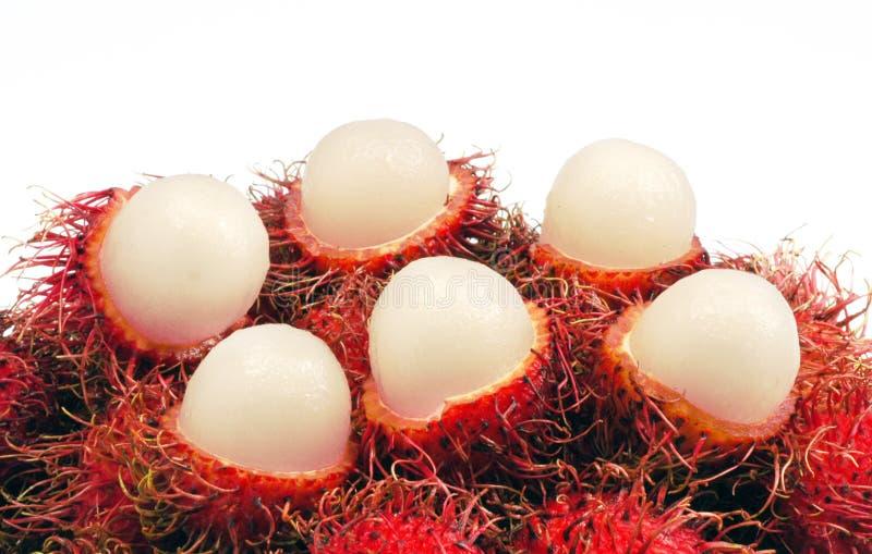 Rambutan fruit. Rambutan a tropical fruit in thailand royalty free stock photos