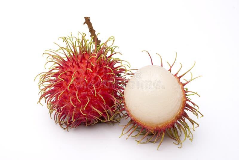 Rambutan fruit. Fresh rambutan fruit isolate on white background (Treatment retouching stock images