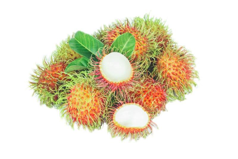 Rambutan fruit isolated on white background stock image