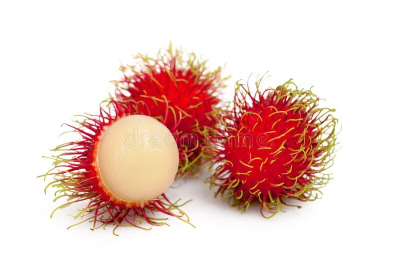 Rambutan fruits. Isolated on white stock photo