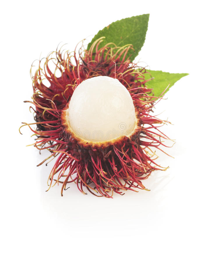 Rambutan isolated on white background stock photo