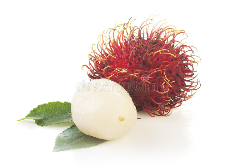 Rambutan isolated on white background stock image