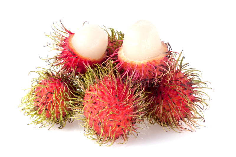 Rambutan isolated on white background royalty free stock images