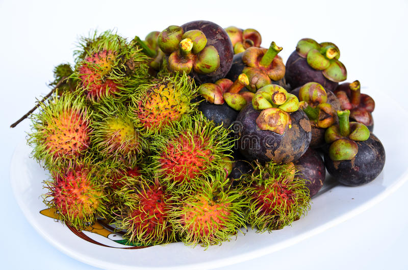Download Rambutan And Mangosteen Isilated On White Background Royalty Free Stock Image - Image: 31435956