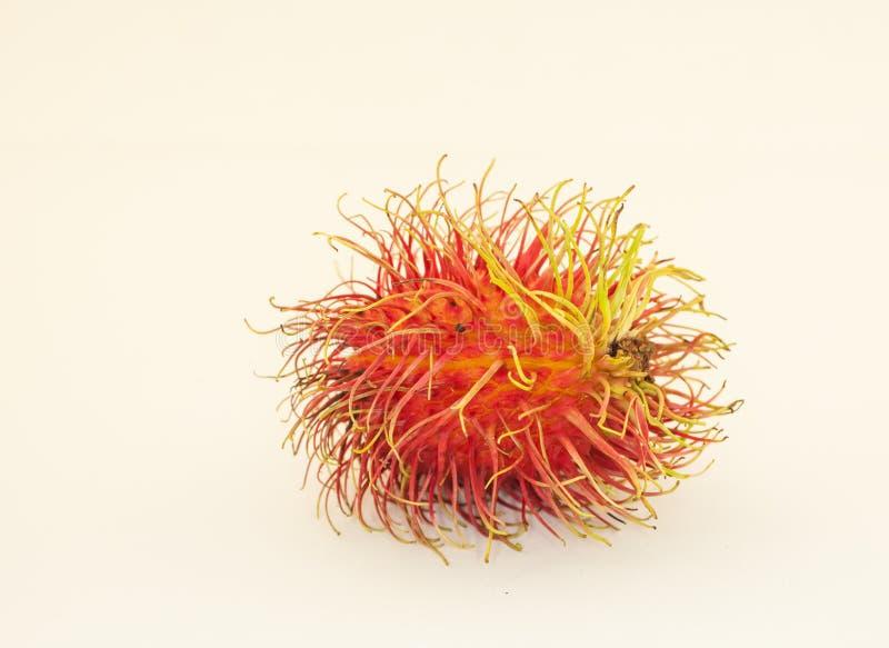 Rambutan op witte achtergrond stock foto