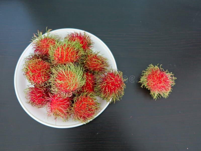 Rambutans frescos fotografia de stock