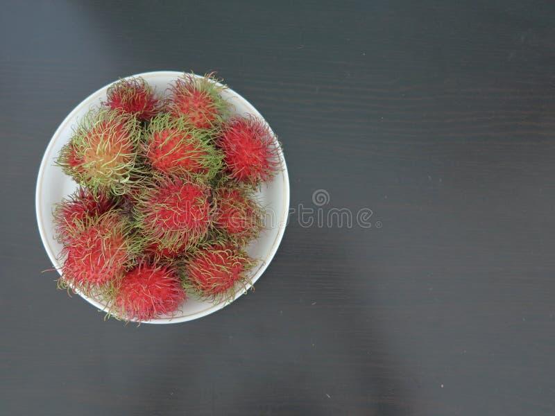 Rambutans frescos foto de stock