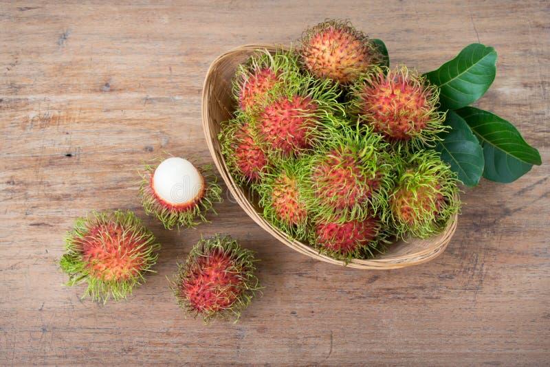 Rambutans frescos fotos de stock