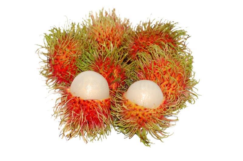 Rambutans o frutas melenudas imagen de archivo libre de regalías