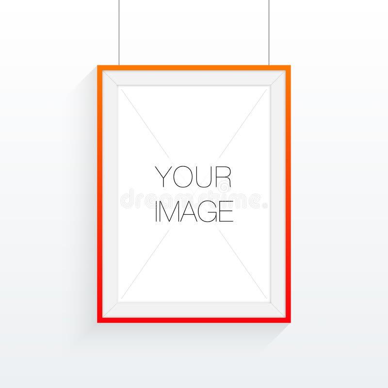 A4 / Ramdesign för format A3 med din text eller bild stock illustrationer