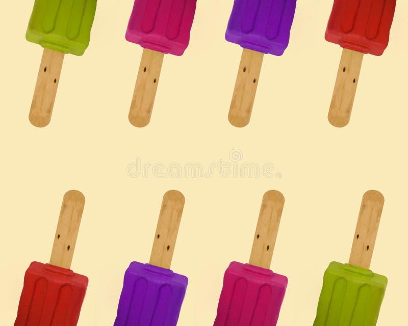 Rame le modèle coloré de glaces à l'eau illustration de vecteur