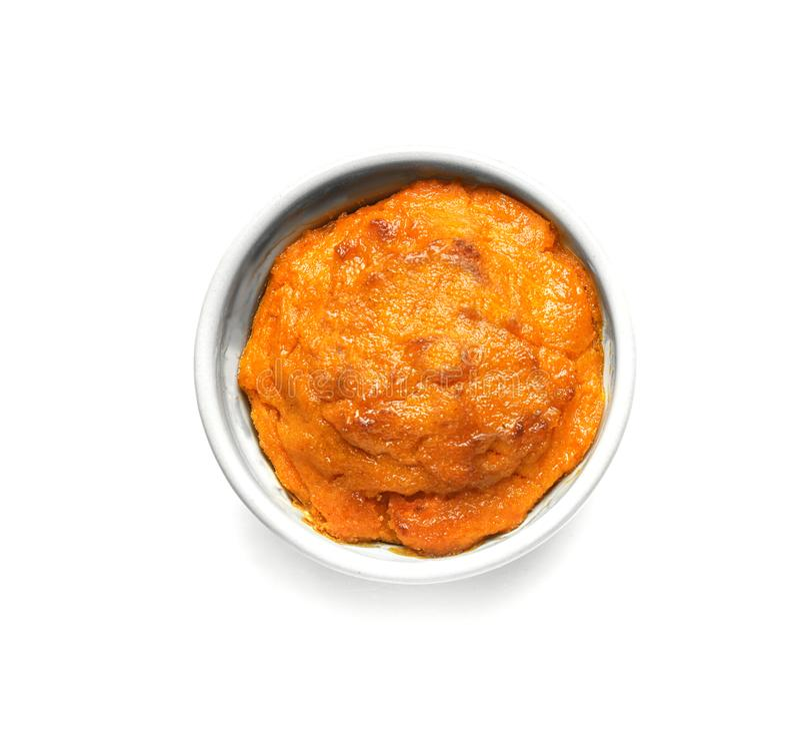 Ramekin с вкусным суфлем моркови стоковое изображение rf