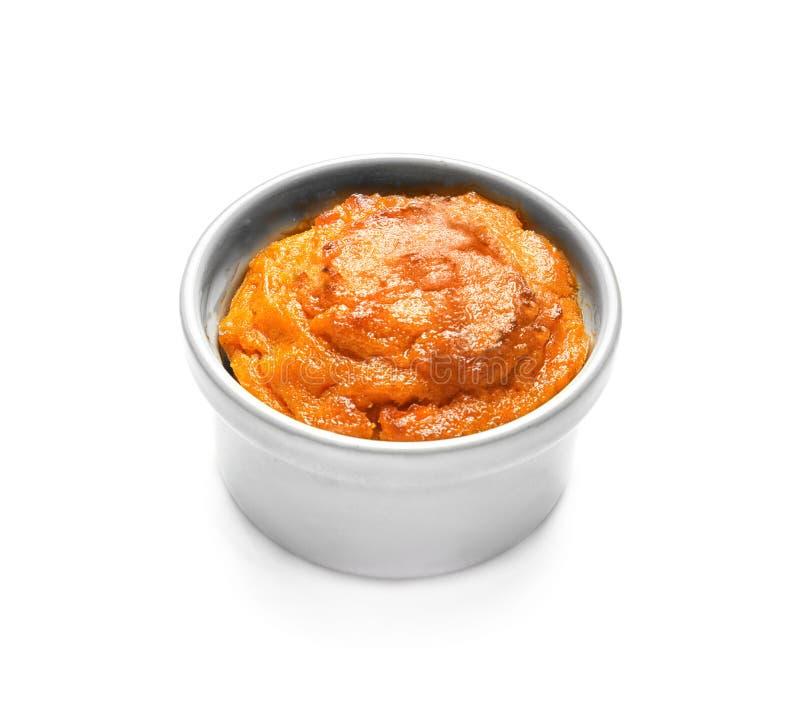 Ramekin с вкусным суфлем моркови стоковые изображения