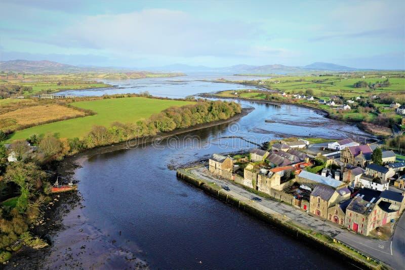 Ramelton co il Donegal Irlanda fotografia stock libera da diritti