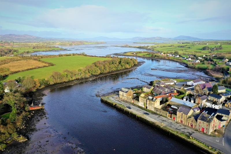 Ramelton mede Donegal Ierland royalty-vrije stock foto