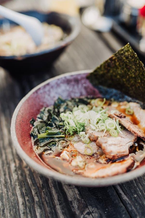 Ramen με βασισμένη τη miso σούπα στοκ φωτογραφία