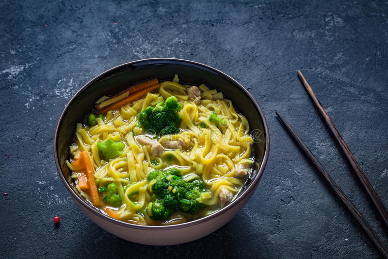 Ramen - asian noodle soup royalty free stock image