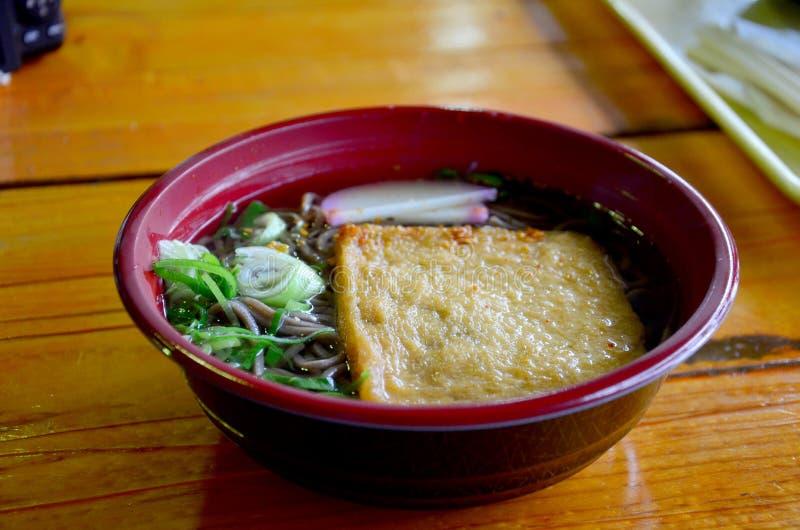 Ramen del queso de soja o ramen con la cuajada de habichuelas Japón fotos de archivo libres de regalías