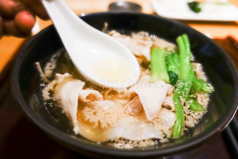 Ramen japoneses da sopa foto de stock