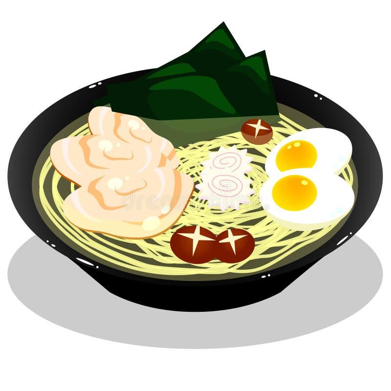 Download Ramen noodle stock illustration. Image of illustration - 25599450