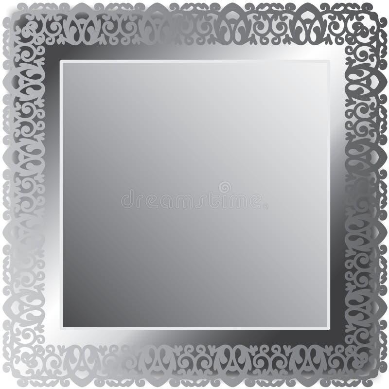 ramen snör åt silver royaltyfri illustrationer