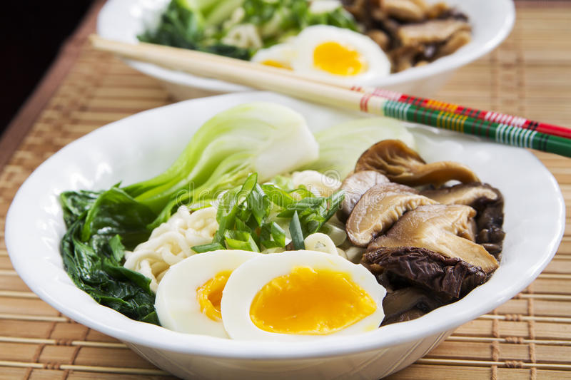 Download Ramen Soup stock photo. Image of eggs, cabbage, dinner - 36896196