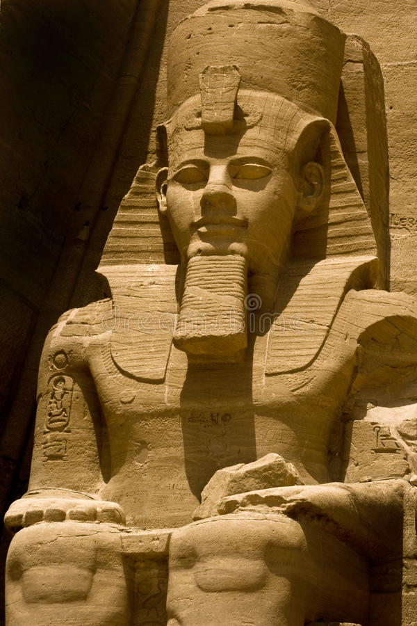 Rameses II em Abu Simbel imagens de stock
