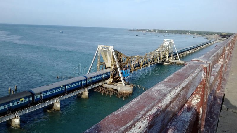 Rameshwaram-Brücke stockfotos