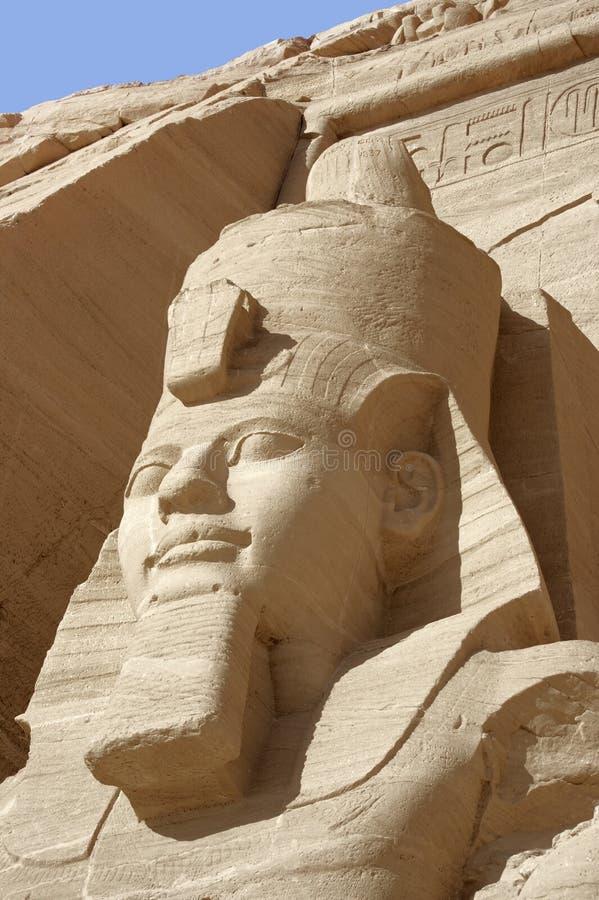 Ramesses em templos de Abu Simbel fotos de stock