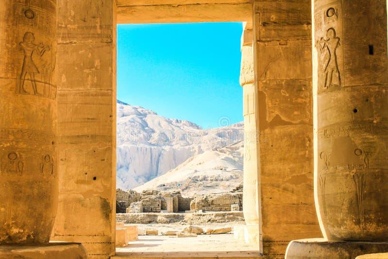 Ramesseum寺庙,埃及 免版税图库摄影