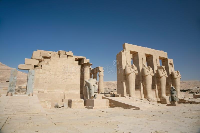 Ramesseum świątynia zdjęcie royalty free