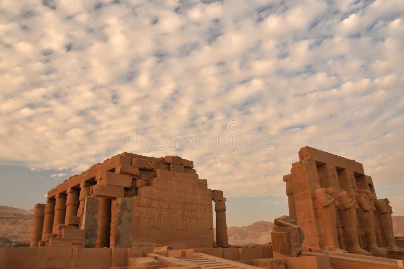 Ramesseum stockfotografie