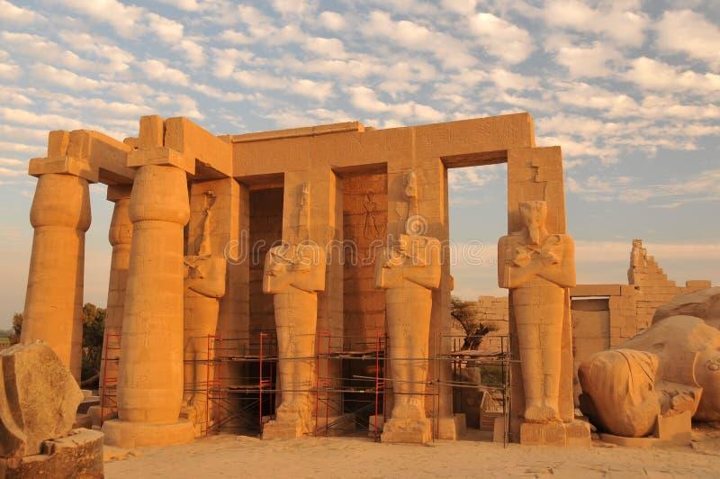 Ramesseum imagen de archivo libre de regalías