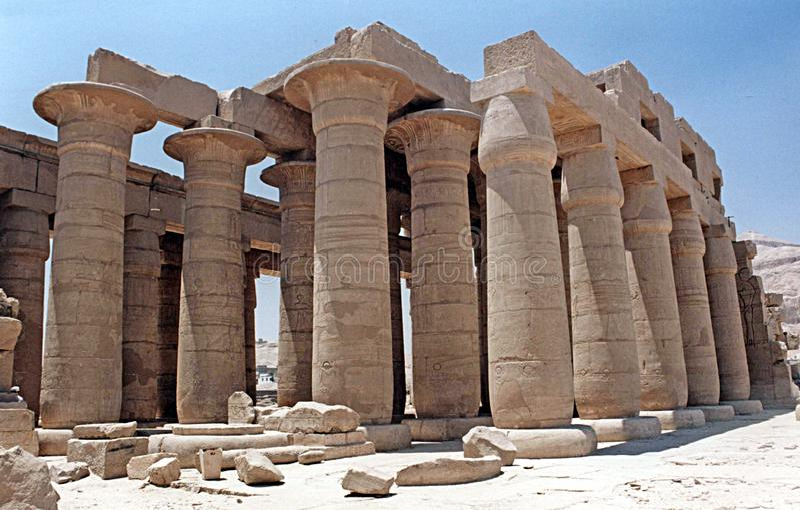 Ramesseum kolumnada obrazy royalty free