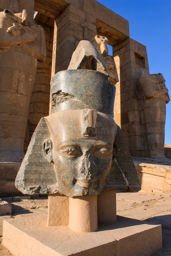 Ramesseum temple, Egypt stock photo