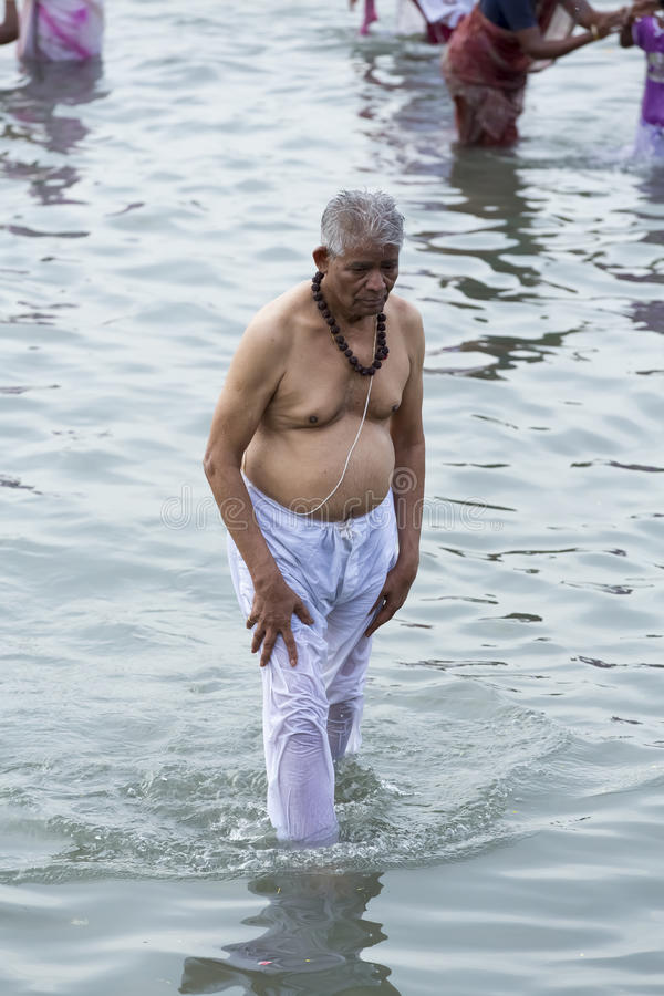 Rameswaram, India - May 25, 2014. Rameswaram, Tamil Nadu, India - May 25, 2014. Full report about Rameswaram pilgrimage, religion Religious city rituals royalty free stock photos