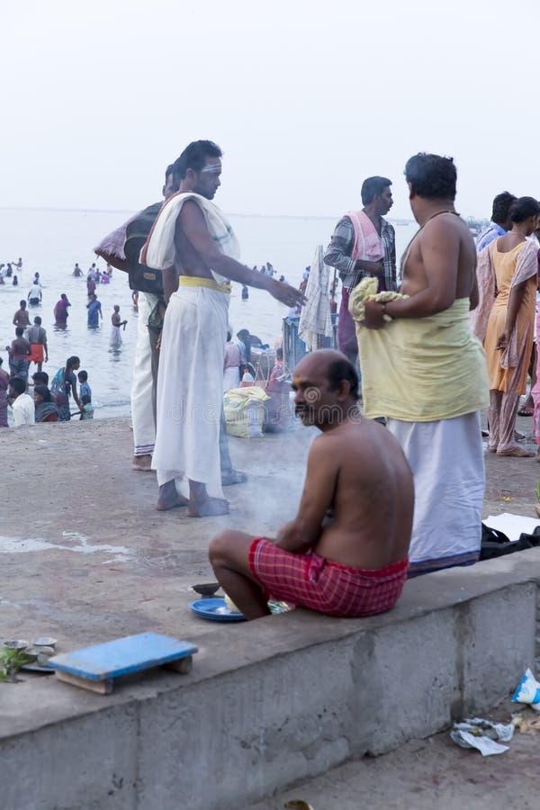 Rameswaram, India - May 25, 2014. Rameswaram, Tamil Nadu, India - May 25, 2014. Full report about Rameswaram pilgrimage, religion. Religious city rituals. Life royalty free stock photo