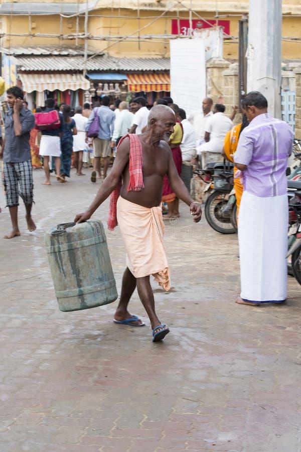 Rameswaram, India - May 25, 2014. Rameswaram, Tamil Nadu, India - May 25, 2014. Full report about Rameswaram pilgrimage, religion. Religious city rituals. Life royalty free stock photos