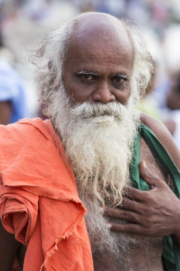 Rameswaram, India - May 25, 2014. Rameswaram, Tamil Nadu, India - May 25, 2014. Full report about Rameswaram pilgrimage, religion. Religious city rituals. Priest royalty free stock images